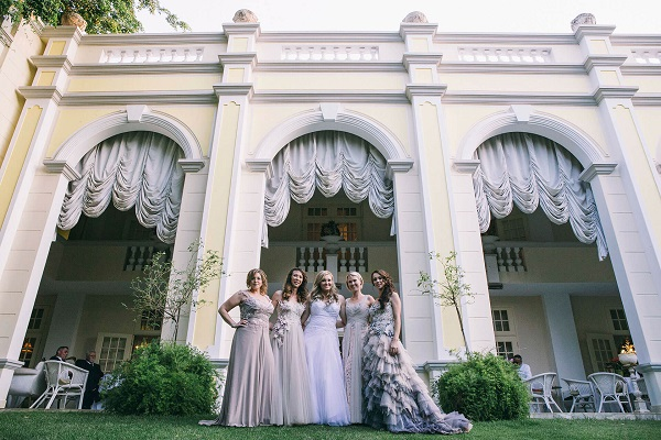 Illyria House Brides infront of Venue