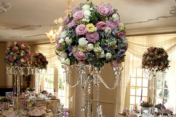 Illyria House Wedding Flower Arrangement